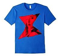 Marvel Black Widow Portrait Logo Overlay T-shirt Royal Blue