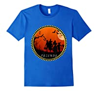 Friends Horror Scary Halloween T Shirt For Royal Blue