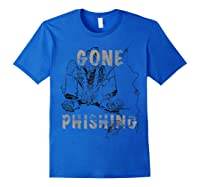 Just The Best Fishing Anywhere Shirts Royal Blue