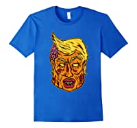 Cool And Creative Zombie Donald Trump T-shirt Royal Blue