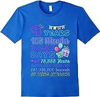 9 Years Old Gifts 9th Birthday Shirt Countdown T-shirt Royal Blue