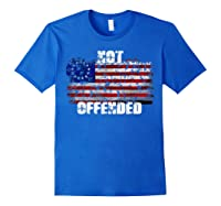 Not Offended B Ross American Flag Shirts Royal Blue