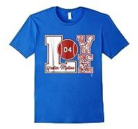 Yadier Molina Love Block T-shirt - Apparel Royal Blue