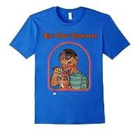 Eat Your Unicorn Meat T-shirt Royal Blue