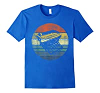 Writer Author Gifts Funny Retro Typewriter Writing T Shirt Royal Blue