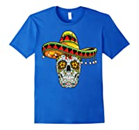 Day Of The Dead Sugar Skull Funny Cinco De Mayo T Shirt Royal Blue