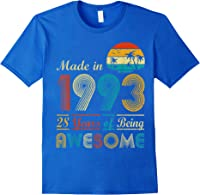 Made In 1993 Vintage Retro 28 Years Old 28th Birthday Gifts T-shirt Royal Blue