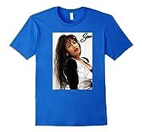 Selenas Vintage Distressed Classic Shirts Royal Blue
