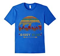 Daddy Bear With Two Cups Retro Gift For Father S Day T Shirt Royal Blue