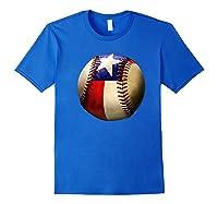 Texas Flag Baseball Game Apparel Gift Great State Of Texas Premium T-shirt Royal Blue