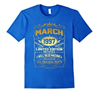 March 1997 Vintage 22nd Birthday 22 Years Old Gif Shirts Royal Blue