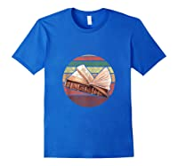 Bookworm Vintage Retro Bookish Reading Read A Book Day Gift Tank Top Shirts Royal Blue