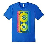 Cassette Tape 80s 90s Vintage Retro Funny Halloween Shirts Royal Blue