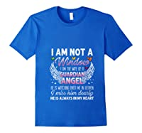 I Am Not A Widow I Am The Wife Of A Guardian Angel Butterfly Shirts Royal Blue