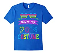 This Is My 70's Costume Halloween Vintage Glasses 1960s Gift Shirts Royal Blue