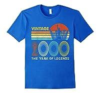 19th Birthday Gift Vintage 2000 T-shirt 19 Years Old T-shirt Royal Blue