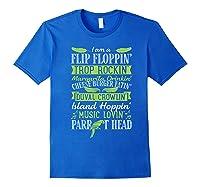 Parrot Shirt - Parrot Head Tshirts Royal Blue
