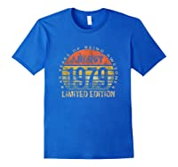 Born In August 1979 40 Years Old August Birth Shirts Royal Blue