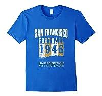 San Francisco 1946 Sf Skyline Throwback Football Shirts Royal Blue