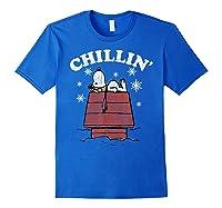 Peanuts Snoopy Holiday Chillin Shirts Royal Blue