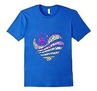 Funny Love Heart Breast Cancer Awareness Pink Ribbon Month Tank Top Shirts Royal Blue