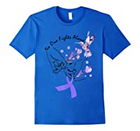 In This Family No One Fights Alone Funny Lupus Awareness T-shirt Royal Blue