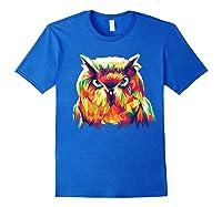 Owl Pop Art Style T Shirt Design Royal Blue
