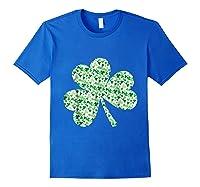 Shamrock T Shirt Saint Patricks Day Royal Blue