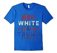 Red And Trump Usa Flag 2020 Election Donald Trump Shirts Royal Blue