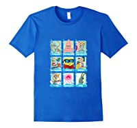 The Look Of Spongebob Characters Shirts Royal Blue