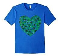 Happy Saint Patrick S Day Shamrock Heart T Shirt Royal Blue