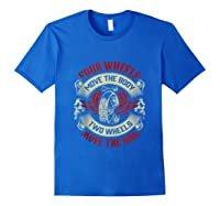 Biker Dad Gift Fathers Day Motorcycles Two Wheels Move Soul Tank Top Shirts Royal Blue
