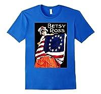 Usa Betsy Ross American Flag Shirt Art 13 Original Colonies T Shirt Royal Blue