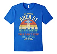 Area 51 5k Fun Run Shirt. Retro Style Funny Ufo, Alien T-shirt Royal Blue