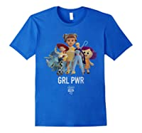 Disney Pixar Toy Story 4 Grl Pwr Distressed T-shirt Royal Blue