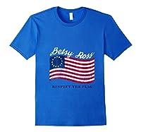 Usa Vintage Betsy Ross American Flag Shirt Art 13 Stars Flag T Shirt Royal Blue