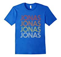 Jonas First Given Name Pride Vintage Style T Shirt Royal Blue