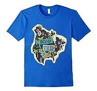 Road Trip 2019 Family Summer Vacation Hippie Van Surf Gift Zip Shirts Royal Blue