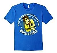 Unbreakable Alveolar Rhabdomyosarcoma Warrior T Shirts Royal Blue