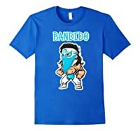 Feel Ink Bandido Bandit Lucha Libre Mexican Pro Wrestler Premium T Shirt Royal Blue