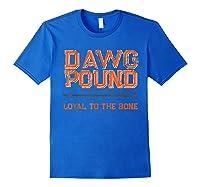 Dawg Pound Shirt Loyal Bone T-shirt Royal Blue