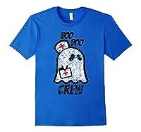 Vintage Boo Boo Crew Funny Halloween Ghost Nurse Nursing Shirts Royal Blue