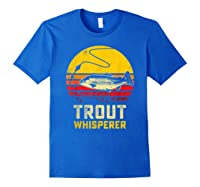 Trout Fishing Brook, Brown, Rainbow Trout Fish Gift Shirts Royal Blue