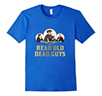 Read Old Dead Guys Funny Theology T Shirt Royal Blue