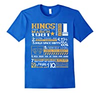 39th Birthday Gift Kings Born In March 1981 39 Years Old Shirts Royal Blue