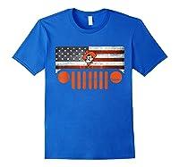 Oklahoma State Cow Nation Flag Apparel T Shirt Royal Blue