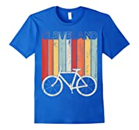Retro Vintage Cleveland City Cycling Shirt For Cycling Lover Royal Blue