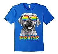 Labrador Gay Pride Lgbt Rainbow Flag Sunglasses Funny Lgbtq Shirts Royal Blue