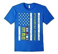 Proud Iraq Afghanistan Veteran Flag Gifts For Veteran Day T Shirt Royal Blue