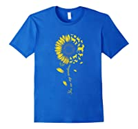 You Are My Sunshine Sunflower Goat For Woman Shirts Royal Blue